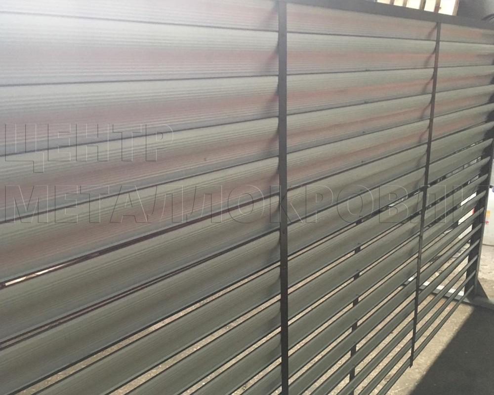 Забор-жалюзи с ламелями «Еврожалюзи»