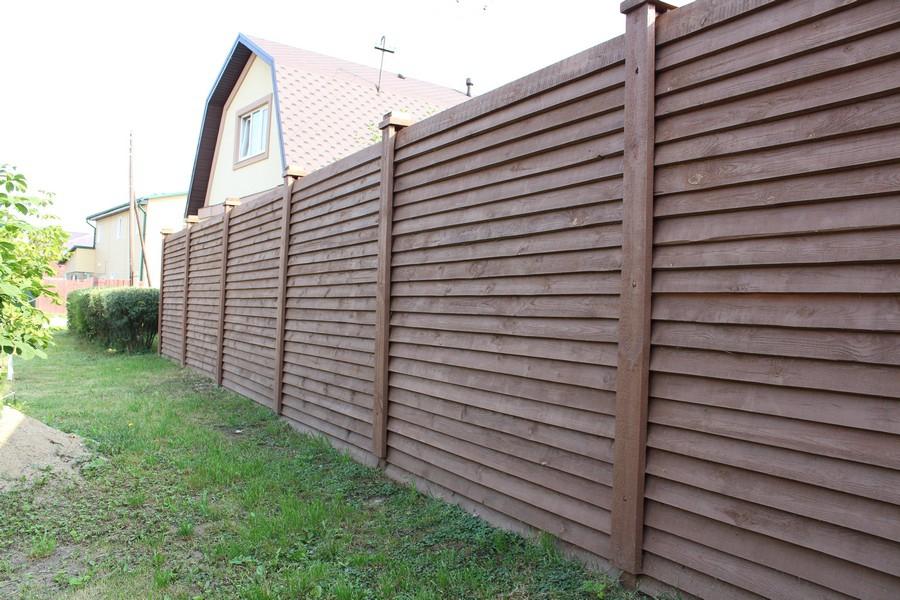 Деревянный забор-жалюзи