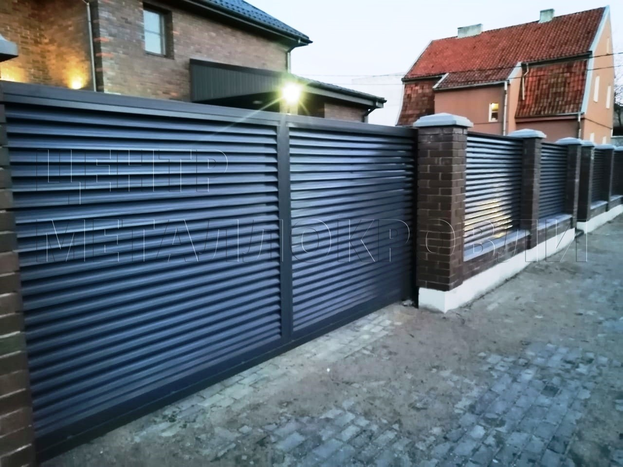 Забор-жалюзи в Калининграде цвета «Серый графит»