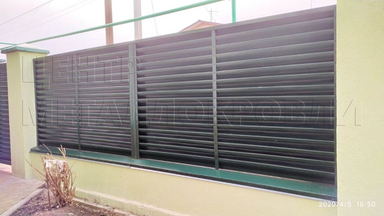забор-жалюзи цвета Зелёный мох-3