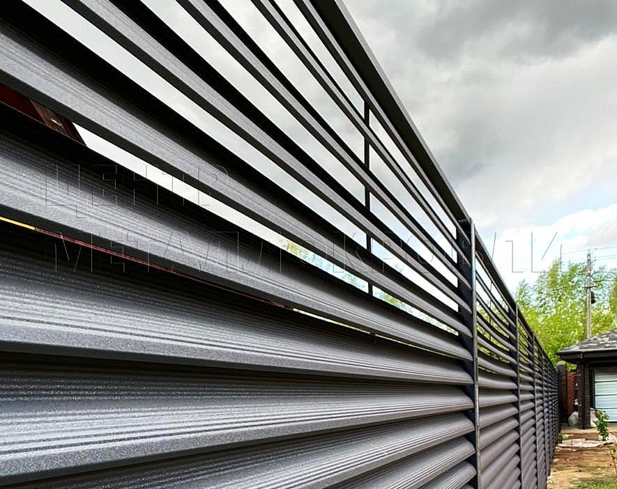 Еврожалюзи забор-жалюзи серый графит - 0