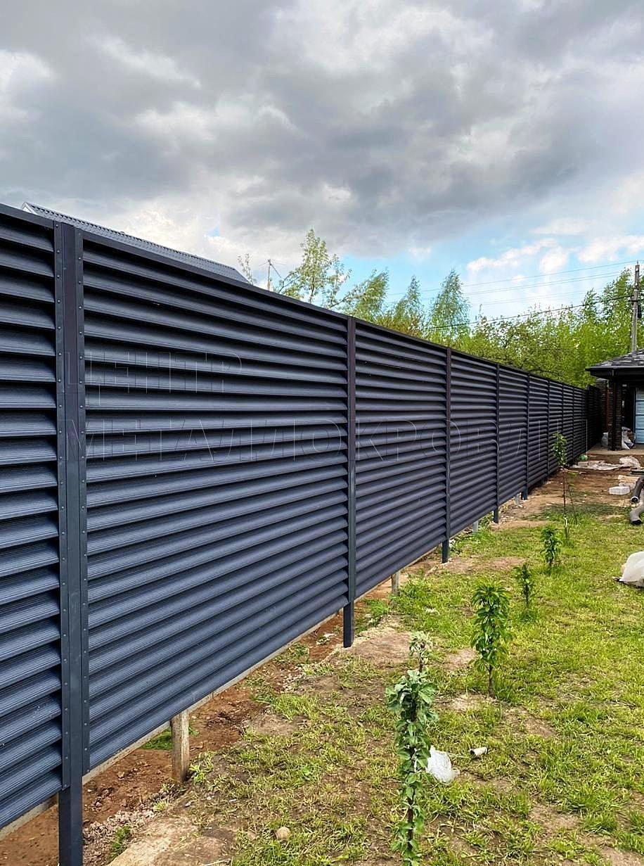 Еврожалюзи забор-жалюзи серый графит - 3